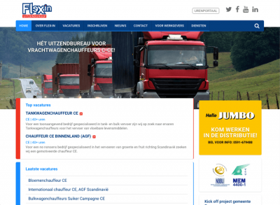 Joomla website Flex-in uitzendgroep