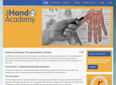 Joomla website The Hand Academy