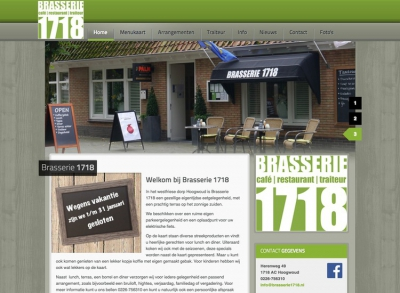 Joomla website Brasserie 1718